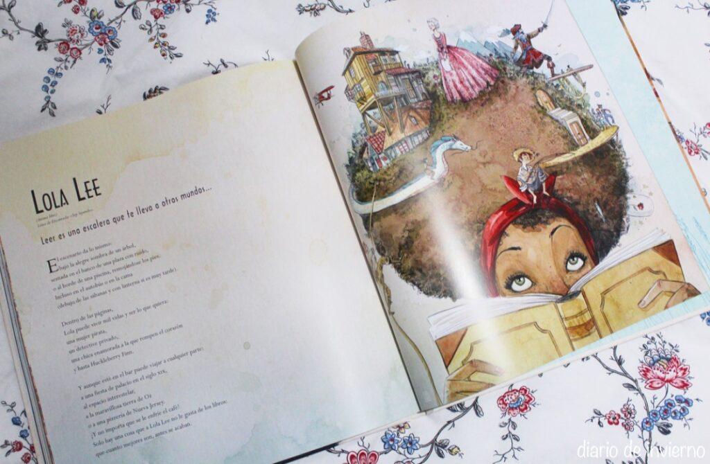 Reseña del libro ilustrado Encantadas de David Aceituno y Esther Gili. Fuante: Sandra Winter (@sandrawinterr ), autora del blog Diario de Invierno.