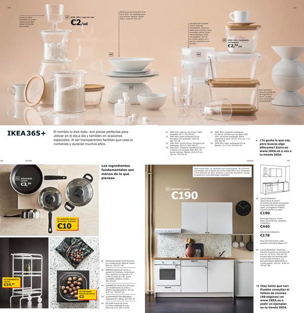 Ejemplo de cómo hacer un catálogo de productos. Fuente: IKEA